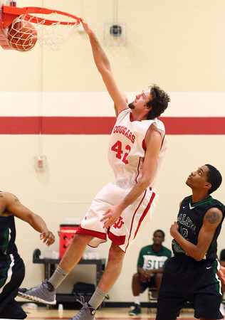 1-8-14<br /> IUK bball vs. SIU<br /> IUK's Dylan Mosack makes a basket during the game against SIU.<br /> KT photo | Kelly Lafferty