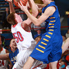 1-18-14<br /> Kokomo vs. Carmel basketball<br /> Kokomo's Erik Bowen and Carmel's Zach McRoberts go after a rebound.<br /> KT photo | Kelly Lafferty