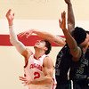 1-8-14<br /> IUK bball vs. SIU<br /> IUK's Spencer Krhin gets fouled as he goes for a shot.<br /> KT photo | Kelly Lafferty