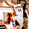 Effingham's Kennan Mahaffey goes for a layup during the Flaming Hearts' win over Salem.