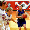 Shelbyville's Courtney Schultz (Stew-Stras) pulls up in transition against St. Anthony.
