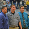 Colton Booher is inducted into the St. Elmo Wall of Fame and is joined by Athletic Director Ryan Beccue (left) and St. Elmo/Brownstown basketball coach Greg Feezel (right).