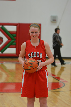 Neoga's Jillian Deters poses with the game ball from when she scored her 1,000th career point in a game against Dieterich at the Effingham Round Robin tournament.