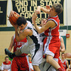 Stew-Stras' Austin Rincker pulls down a rebound against St. Anthony.