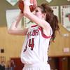 1-22-15<br /> Northwestern vs Taylor basketball<br /> Lydia Owens of Taylor shoots.<br /> Kelly Lafferty Gerber | Kokomo Tribune