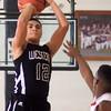 1-16-15<br /> Boys Basketball County Tournament<br /> Western's Des Balentine goes for a shot.<br /> Kelly Lafferty Gerber | Kokomo Tribune