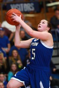 1-21-15 Tri Central vs Tipton basketball Tipton's Molly Mahaney goes for a layup. Kelly Lafferty Gerber | Kokomo Tribune