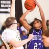 1-16-15<br /> Boys Basketball County Tournament<br /> Northwestern's Keron Hullum goes up for a shot.<br /> Kelly Lafferty Gerber | Kokomo Tribune