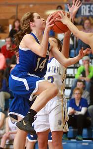 1-21-15 Tri Central vs Tipton basketball Tipton's Jessie Sprinkles goes for a shot. Kelly Lafferty Gerber   Kokomo Tribune