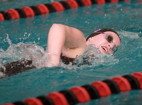1-24-15<br /> MIC girls swimming<br /> Northwestern's Kathleen Babcock in the 200 Yard Freestyle.<br /> Kelly Lafferty Gerber | Kokomo Tribune