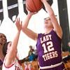 1-22-15<br /> Northwestern vs Taylor basketball<br /> Northwestern's Brianna Hahn goes for basket.<br /> Kelly Lafferty Gerber | Kokomo Tribune