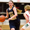 Teutopolis' Danielle Repking looks for a teammate. She finished with 12 points in the Shoes' 56-39 win over Effingham.