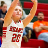 Effingham's Aly Armstrong eyes her 3-pointer against Pana.