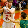 Altamont's Ryan Armstrong holds the ball during a game against Patoka.