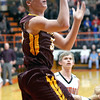 Dieterich's Callaway Campton shoots a layup during the Movin' Maroons' loss at Altamont.
