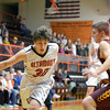Altamont's Ryan Armstrong drives to the basket during a game against Dieterich.