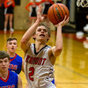 Altamont's Mitchell Stevenson drives to the hoop. Stevenson went off for 32 points in the Indians' 83-59 win over Cowden-Herrick/Beecher City.