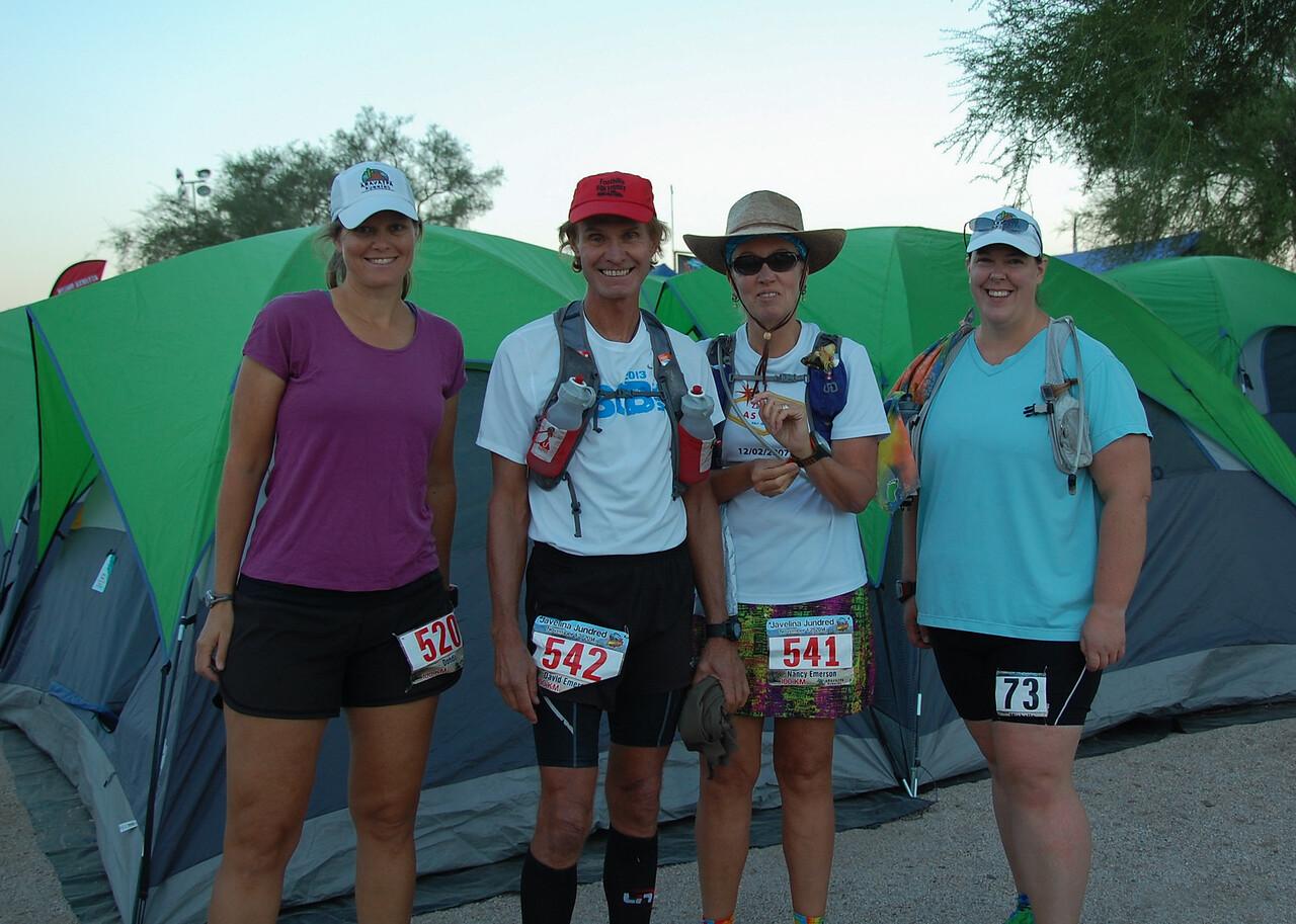 A few Idahoans starting the 100k:  Dondi, David, Nancy, Michelle.