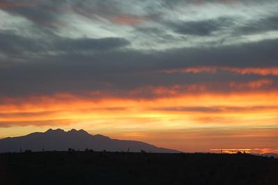 Desert sunrise.