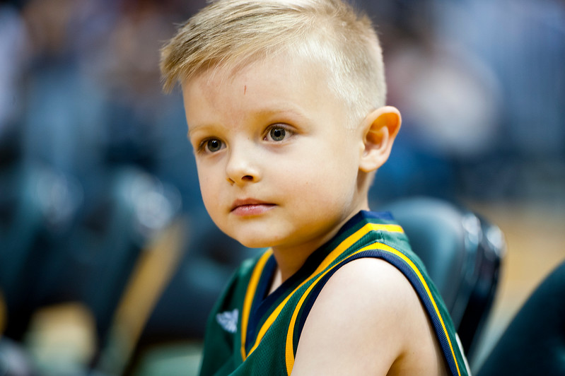 JP Gibson gets the opportunity to play with his favorite team during the Jazz scrimmage. Gibson was diagnosed with acute lymphoblastic leukemia in 2012. At Energy Solutions in Salt Lake. On October 6, 2014