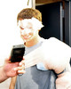 After the visiting Altoona Curve defeated The Portland Sea Dogs, 1-0, at Hadlock Field in Portland, Maine, on August 18th, a teammate helped winning pitcher, Jeff Locke, celebrate with a shaving cream pie to the face, as he was being interviewed by media.