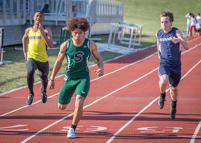 20180405-165630 Jerry Crews Invitational - 100 Meter Run - Boys