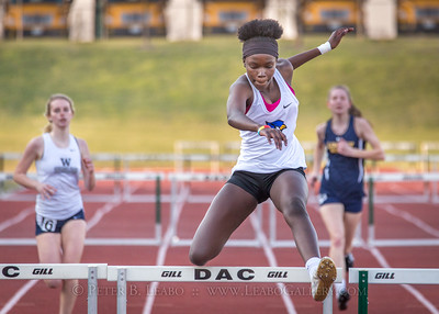 20180405-184655 Jerry Crews Invitational - 300 Intermediate Hurdles - Girls
