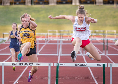 20180405-185120 Jerry Crews Invitational - 300 Intermediate Hurdles - Girls