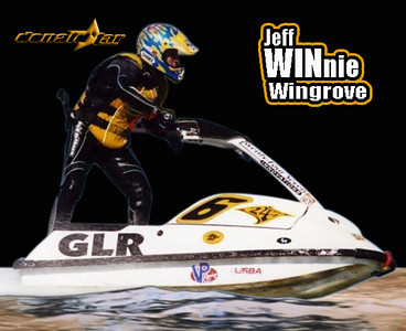 Jeff Wingrove (aka Winnie) at World Finals! 2 Time ~ World Champion! Began racing Region 8 in 1991 with perfect attendance to every Watersport Production Race. (you & me both) (although I may have been late once or twice :) Raced the Pro Tour circuit from 96' until 2002  running the fastest motors on the planet built by Gary Lamb Racing (GLR)  Still riding my same race boats and shredding it up at the surfside freerides =:o  Braaaaap!