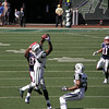 Brady's pass to Moss was intercepted by Revis