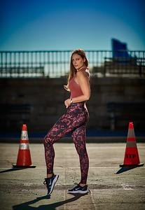 Oct. 19,  2019 - New York, NY   Jillian Sage / QueenGotham captured along NYC's UES SweatyBetty Athleta Nike  Photographer- Robert Altman Post-production- Robert Altman