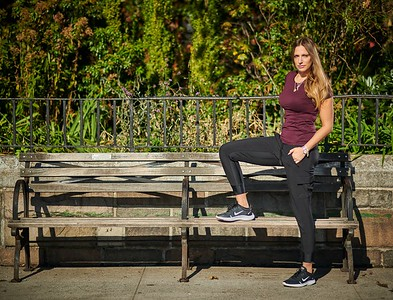 Oct. 19,  2019 - New York, NY   Jillian Sage / QueenGotham captured along NYC's UES SweatyBetty Athleta Nike  Photographer- Robert Altman Post-production- Robert Altman
