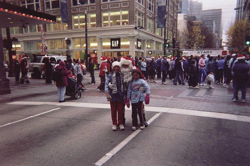 Steph, Jody and Santa