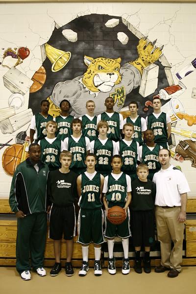 Jones Middle School - 2009 Boys Basketball Team