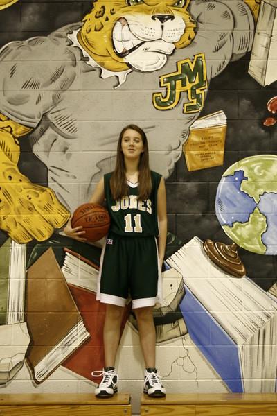Jones Middle School - 2009 Girls Basketball Team