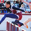 Globe/T. Rob Brown<br /> Joplin High School junior Desean Garner competes in the hurdles Friday afternoon, April 19, 2013.