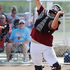 Joplin catcher (25) collects a pop fly for an out against Webb City during Saturday afternoon's game, Sept. 14, 2013, at the Joplin Athletic Complex softball field.<br /> Globe | T. Rob Brown
