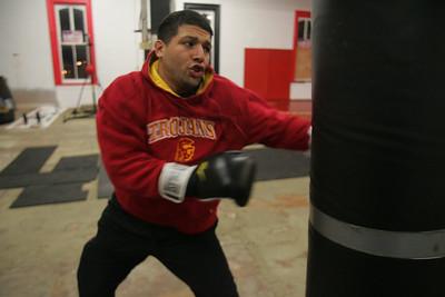 9DEC09  Lorain native Jose Martinez will headline Saturday's fights at Midway Mall.  photo by Chuck Humel
