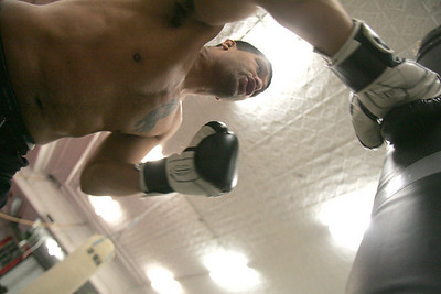 9DEC09  Lorain native Jose Martinez will headline Saturday's fights at Midway Mall.  photo by Chuck Humel