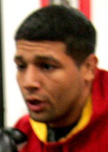 9DEC09  Lorain native Jose Martinez will headline Saturday's fights at Midway Mall.