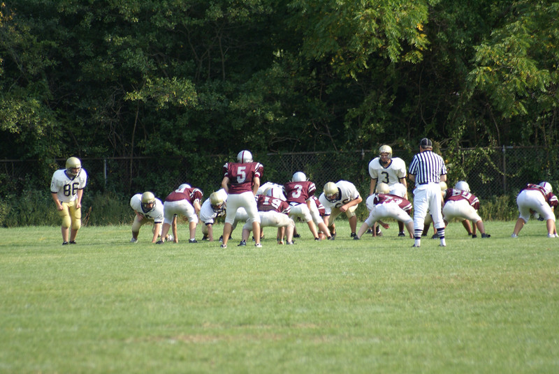 Millis High School Freshman football, first game and it's won!