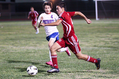 The Juarez-Lincoln boys soccer team came undefeated into Friday night's game at Mission Veterans Memorial High School. The Huskies dominated the game and eventually capitalized in the second half to earn a 2-0 victory over the Patriots to remain undefeated in District 32-4A.