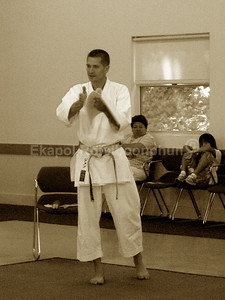 Jon Keeling sensei - Chief Judge  Judging Seminar South SF 2007 Shinkyu Shotokan Tournament