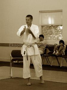 Jon Keeling sensei - Chief Judge  Judging Seminar South SF 2007 Shinkyu Shotokan Tournament