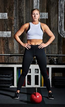 Oct. 22, 2017- - New York New York Fitness photoshoot at Fortitude Strength Club NYC  Julie Wandzilak (Stetts Model Management)  Photographer- Robert Altman Credit: Robert Altman