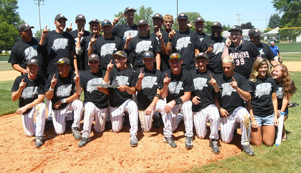 6-9-12<br /> Western HS after winning Semi-state baseball at Highland Park.<br /> KT photo   Tim Bath