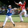 7-30-12<br /> UCT vs Scott County, Ky in the final game of the Ohio Valley Regional with UCT winning.<br /> Jack Perkins avoiding a tag at 2nd base with Scott County's Ryan Hannabach missing the tag.<br /> KT photo | Tim Bath
