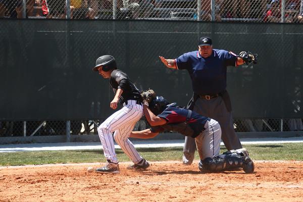 6-9-12     ---  Western  WON 11-7<br /> Western HS vs Bellmont Semi-State Baseball at Highland Park<br /> <br /> KT photo | Tim Bath