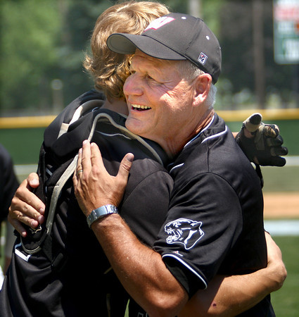 6-10-12<br /> WHS Baseball<br /> Ty Calloway hugging Kyle Ennis before the Semi-State game.<br /> KT photo | Tim Bath