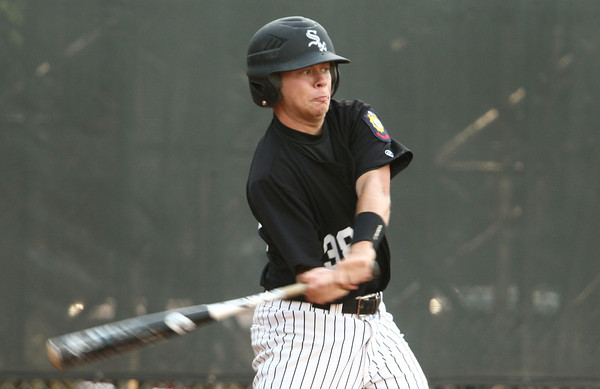 6-5-12<br /> Post 6 Baseball at Highland Park CFD Stadium.<br /> Trevor Marler at bat.<br /> KT photo | Tim Bath